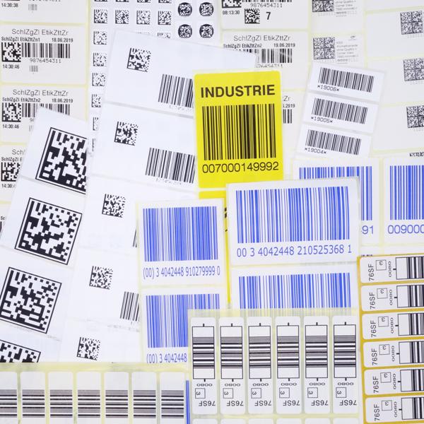 Codeetiketten von Schlegel Etiketten als Strichcodes und QR-Codes