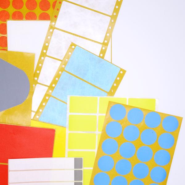 Spezialetiketten Schlegel Etiketten in verschiedenen Formen und Größen