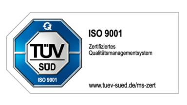 ISO-9001-Zertifizierung - Zertifiziertes Qualitätsmanagementsystem