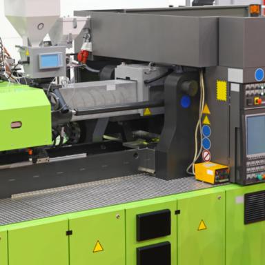 Eine grüne Druckmaschine für hitzebeständige Etiketten