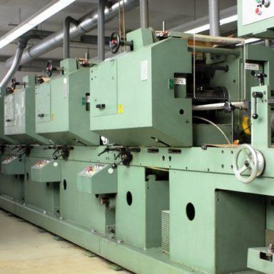 Maschinen von Schlegel Etiketten