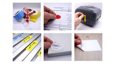 Mehrere wiederablösbare Etiketten in verschiedenen Formen