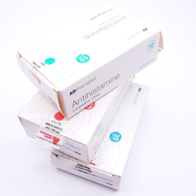 Verschiedene Anwendungsbeispiele für Pharmaetiketten