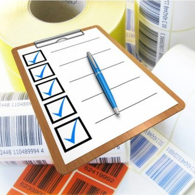 Checkliste mit Fragen über Spezialetiketten